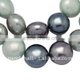 "Shell Pearl Beads, Lentil,Dyed, about 14x4.3mm, hole: 1mm, about 29pcs/strand, 16.3""(BSHE-Q008-M)"