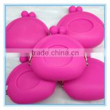 Customised Silicone Cosmetic clutches bag, women used handbag with lip openning