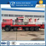 Diesel Engine Type and Turbocharger Type The 420HP howo 8x4 heavy lorry crane truck lowest factory price