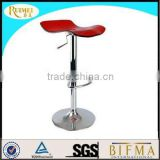 Plastic Red Acrylic Bar Chair