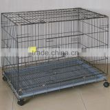 China Wholesale Dog Crate Foldable Iron Dog Cage With Wheels                                                                         Quality Choice