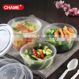 Promotion leakproof transparent plastic food container, can microwave lunch box, good quality plastic food box