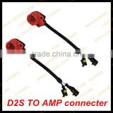 auto parts accessory d2 d2s d2r d2c to amp connector hid kits adapter socket harness cable
