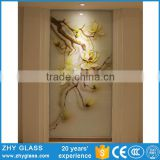 Flower Pattern Decoration Fusing Frosted Glass Wall Art