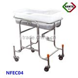 Stainless steel infant bed baby cots and cribs hospital baby bassinet baby hospital bed for sale
