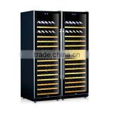 GW-168T-D side by side double door thermostat wine refrigerator wine cooler wine storage cooler