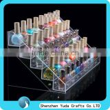 clear acrylic nail polish display nail varnish cosmetic store display stand with stairs high quality