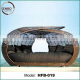 round rattan outdoor bed outdoor swing, outdoor hanging bed, bali bed outdoor