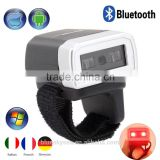 Handheld Mini Bluetooth Ring Finger CCD Barcode Scanner Reader For Android & iOS