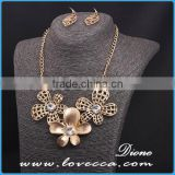 Africa bridal wedding gift jewelry elegant fashion flower necklace jewelry sets