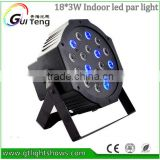 18*3W Led Stage Light High Power RGB Par Light With DMX512 Master Slave Led Flat DJ Equipments Controller