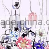 High quality silk print fabric chiffon for floral