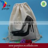 2014 Organic drawstring cotton dust bag Shoe