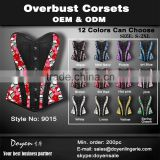 2015 women fashion hot sale shaper cincher waist training sport steel bone corset bustier