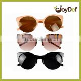 Cat eyes PC sunglasses customized logo sunglasses half frame promotion sunglasses for women
