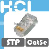 Network Solution RJ45 8P8C Cat 5e Shielded STP Gold Plated Modular Plug