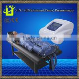 Air pressure massage machine a pressotherapie/3 in 1 far infrared therapy machine with eletrode ems air press