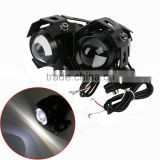 2 X U5 125W LED Spot Fog Head Lamp For Motorcycle Car Bicycle Boat Truck