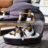 Newest luxury dog pet furniture unique resin wicker large dog beds