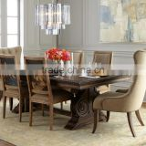 American Country Style Solid Wood Dining Room Set, Post-modernism Luxury Dinning Table and Chairs Set (BF01-X1159)
