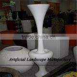 SJZJN 2649 shopping center decorative fiberglass handmade flower pot