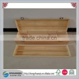 Solid wood material custom order wooden essential oil storage hamper box with removable dividers
