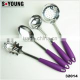 32014 Hot sale Stainless steel 4pcs Kitchen Utensils