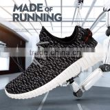 Hot Sale Man Running Breathable Shoe With No Brand Flyknit Fabric Casual Shoes