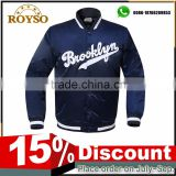 Custom American Baseball Letterman Satin Letterman Kids Varsity Jacket Nylon Soft Shell Jacket