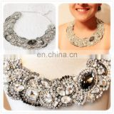 Aidocrystal Handmade Hot sale Luxury full rhinestone gem stone choker necklace for women
