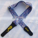 Fashional Professional Colored Custom Printed Logo Cheap Guitar Strap