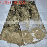 organza embroidery lace fabric for clothing(FL709) embroidery french lace