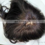 100% Brazilian Virgin Remy in Stock Crown Toupee for Men/Women in Black