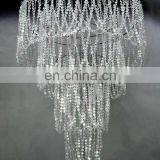Super Large 4 Tiered beaded Chandelier with Diamond Cut beads
