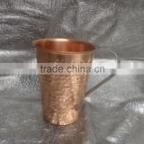 Hammered Moscow mule beer drinking copper mug cup
