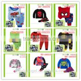 Hot selling cartoon pajamas baby children clothing set MY-PA001