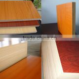wooden grain walunt PVC or melamined particle board double computer desk for Internet cafe