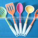 (DCS-ST084) 5 Pieces PP Handle Silicon Kitchen Utensil Silicon Cookware of Spoon and Turner