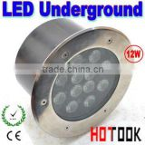 12W LED Underground light with 12 led lights 85~265V