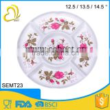 top quality print melamine decorate 5 compartments candy dessert tray                                                                         Quality Choice
