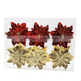 2016 new wholesale christmas ornament suppliers blowout colorful poinsettia / Christmas flower