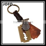 2015 New Leather KeyChain High Quality Fashion Blade Pendant Key Chain rings Vintage keyring Accessories