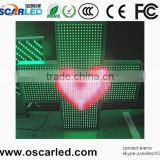 LED ASRAM Outdoor Two sideswaterproof animatio P16RGB LED pharmacy cross display 3d led pharmacy cross display sign board screen