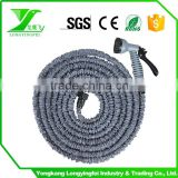 Stretch Flexible Garden Wash Car Water Hose 25/50/75/100 FT with Spray Nozzle 8 function gun