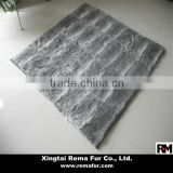 Factory wholesale 100% genuine rabbit fur carpet in high quality