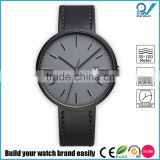 PVD grey stainless steel case polished indexing scratch-resistant waterproof 5ATM sapphire crystal wrist watch