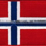 Norway flag embroidery patch country badge iron on embroidered                                                                         Quality Choice