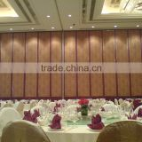 China aluminium hotel interior wooden perforated acoustic panel movable partition