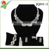 JQ0321-2 American diamond necklace sets indian jewelry set wedding ad jewellery jewelry-indian guangzhou head-fashion fabric f