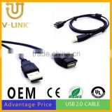 Male to female usb wire for camera computer phone accesories 1.5m 3m 5m